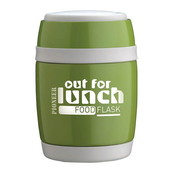 Pioneer 380ml Food Flask with Spoon Green