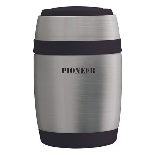 Pioneer 480ml Food Flask with Spoon Stainless Steel