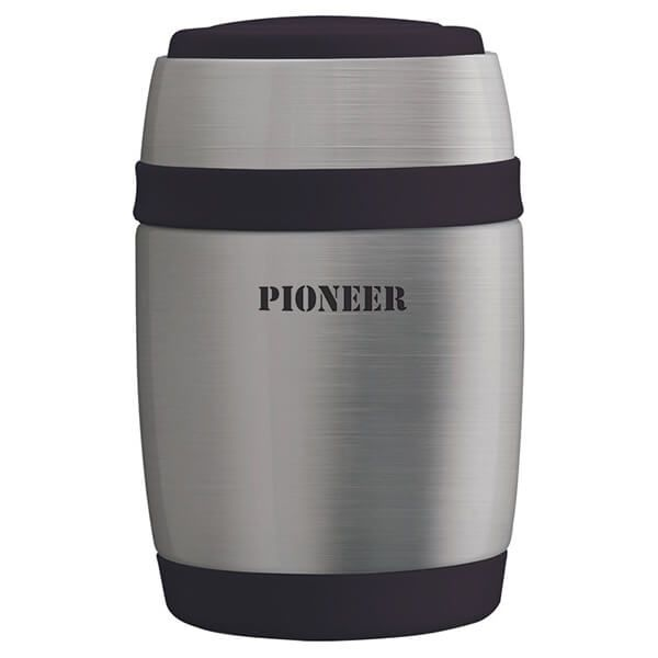 Pioneer 580ml Food Flask with Spoon Stainless Steel