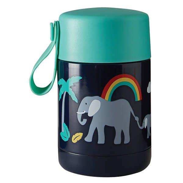 Frugi Organic Indigo/Elephant Yummy Insulated Food Flask