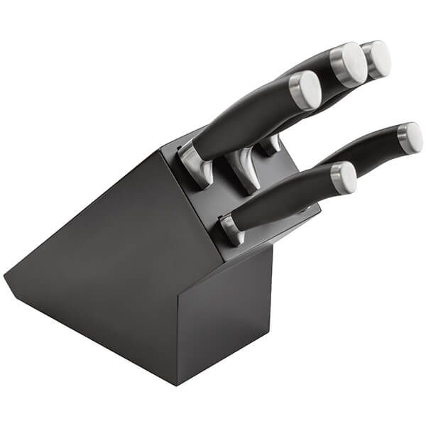 Stellar James Martin 5 Piece Knife Block Set Black