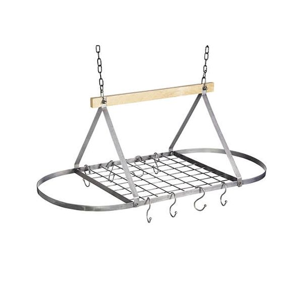 Industrial Kitchen Mango Wood Ceiling Rack