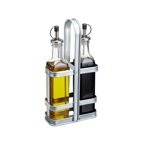 Industrial Kitchen Glass Oil & Vinegar Set