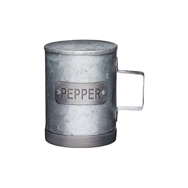 Industrial Kitchen Galvanised Steel Pepper Shaker
