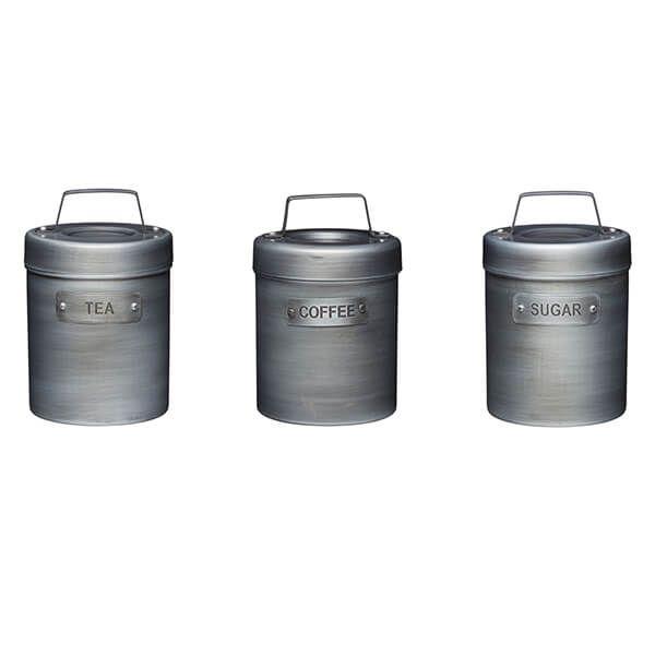 Industrial Kitchen Metal Storage Canister Set