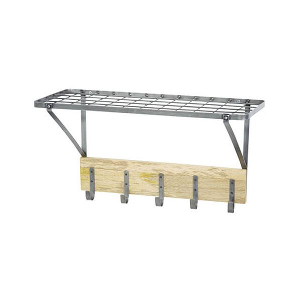 Industrial Kitchen Mango Wood Wall Shelf Rack