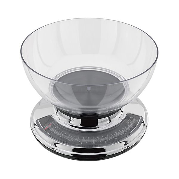 Judge 5.0kg Chrome Kitchen Scale with Clear Bowl