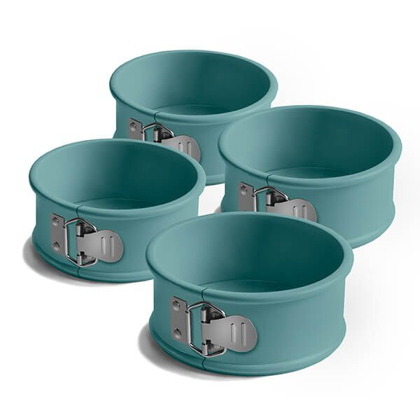 Jamie Oliver Set of 4 Atlantic Green Mini Springform Cake Tin