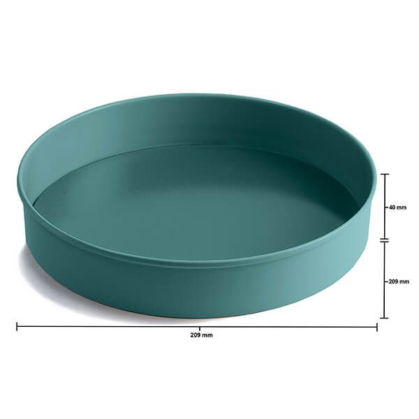 Jamie Oliver Atlantic Green 8in/20cm Loose Base Round Sandwich Tin