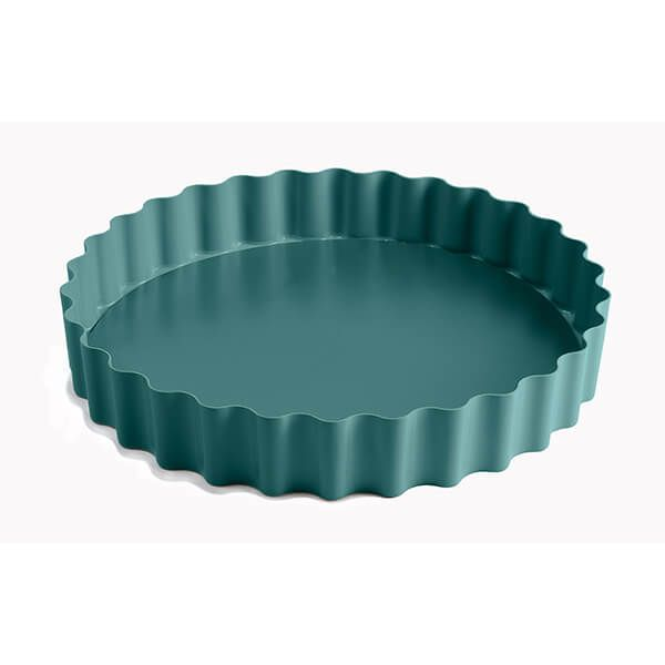 Jamie Oliver Atlantic Green 10in/25cm Non-Stick Loose Base Tart Tin