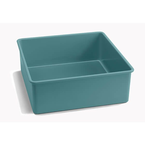 Jamie Oliver Atlantic Green 8in/20cm Loose Base Square Cake Tin