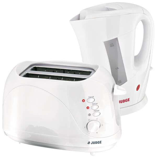 Judge 1850W Cordless Kettle & 2 Slice Toaster