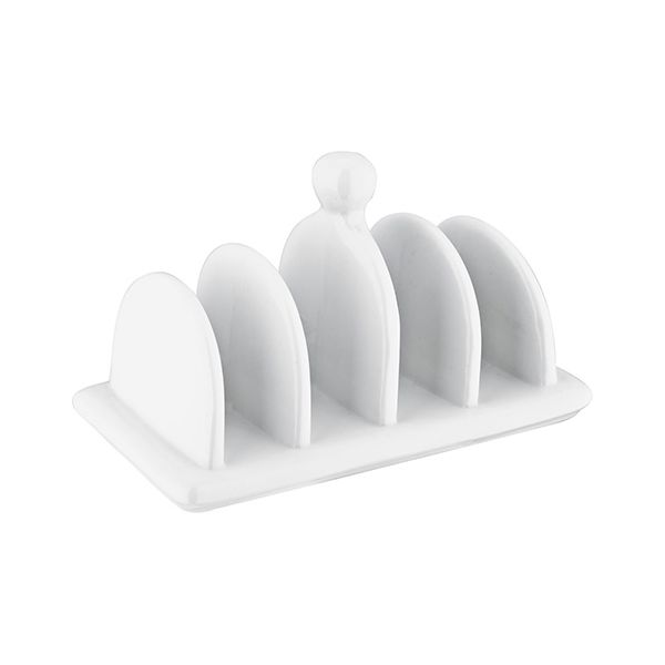 Judge 4 Slot Toast Rack White