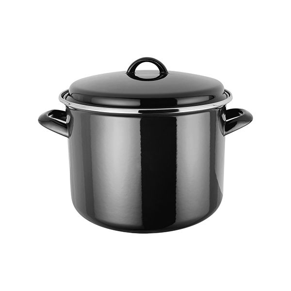 Judge Induction Black 24cm Stockpot