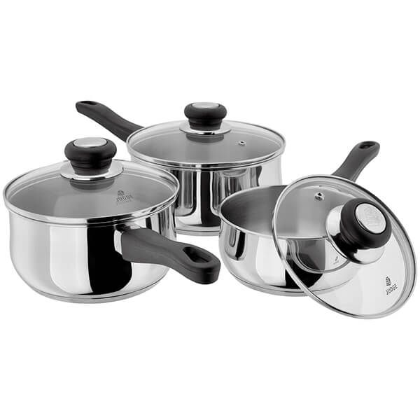 Judge Vista NEW 3 Piece Saucepan Set