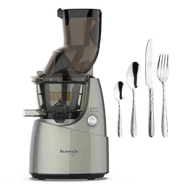 Kuvings B8200 Whole Slow Juicer Silver with FREE Gift