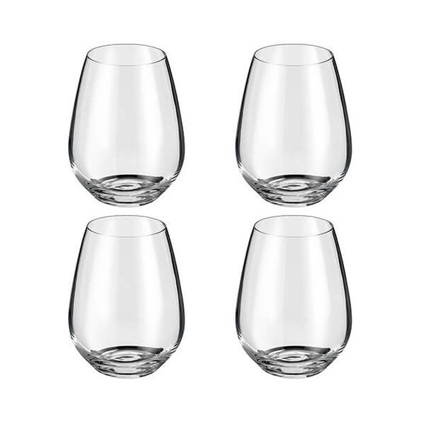 Judge Crystalline Set of 4 Stemless Wine Glasses 400ml