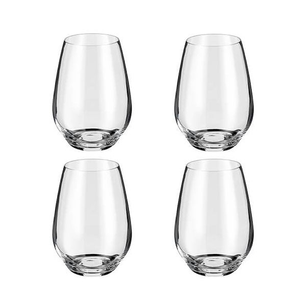 Judge Crystalline Set of 4 Stemless Wine Glasses 540ml