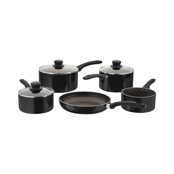 Judge Radiant Black Non-Stick 5 Piece Saucepan Set