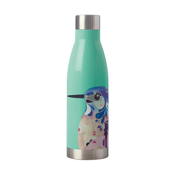 Maxwell & Williams Pete Cromer 500ml Double Walled Water Bottle Kingfisher