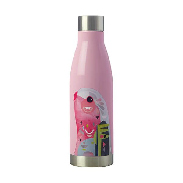 Maxwell & Williams Pete Cromer 500ml Double Walled Water Bottle Parrot