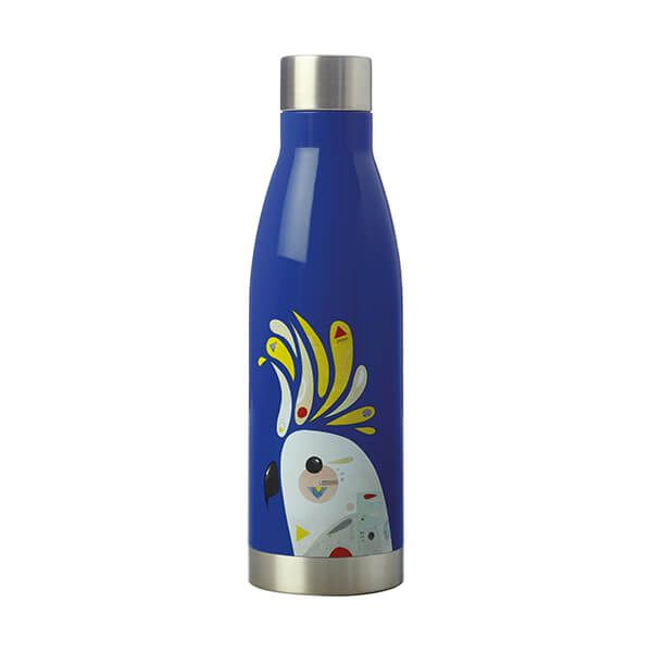 Maxwell & Williams Pete Cromer 500ml Double Walled Water Bottle Cockatoo