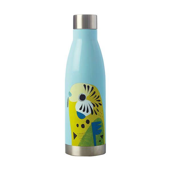 Maxwell & Williams Pete Cromer 500ml Double Walled Water Bottle Budgerigar