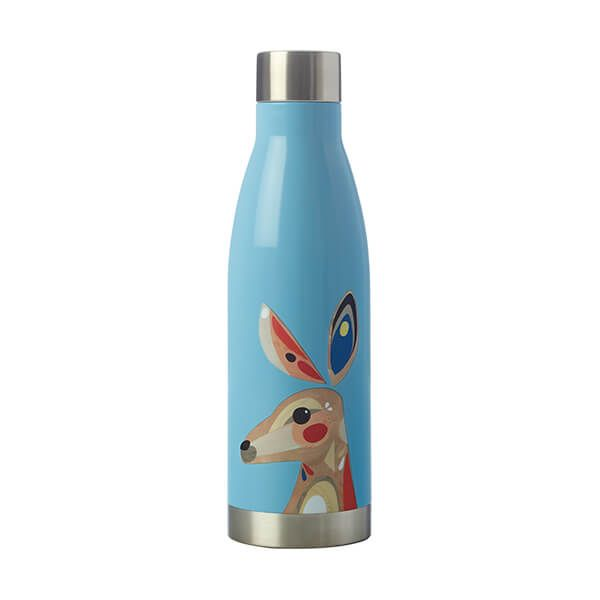 Maxwell & Williams Pete Cromer 500ml Double Walled Water Bottle Kangaroo