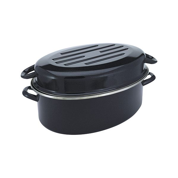 Judge Induction Granite High Oval Roaster 36cm