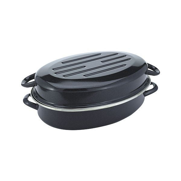 Judge Induction Granite 36cm Low Oval Roaster