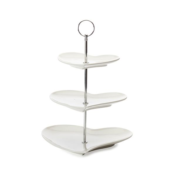 Maxwell & Williams Amore Hearts 3 Tier Cake Stand