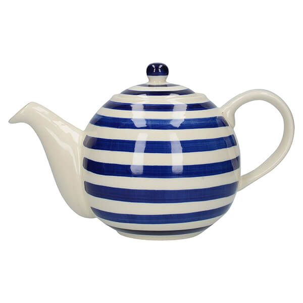 London Pottery Globe 4 Cup Teapot Blue Bands