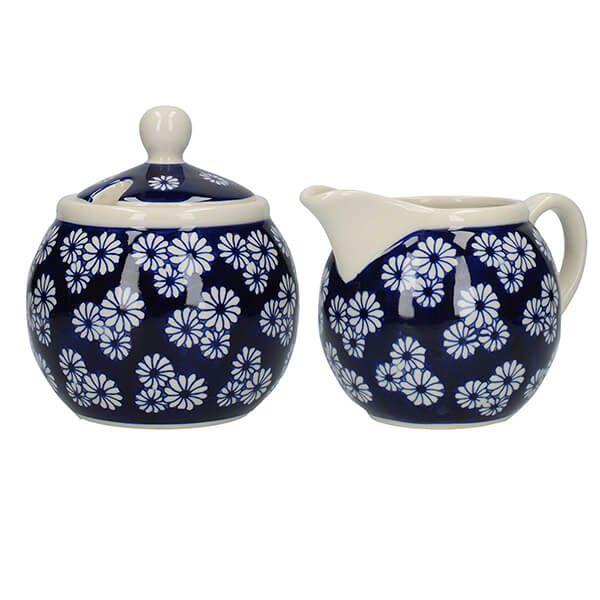 London Pottery Sugar and Creamer Set Small Daisies