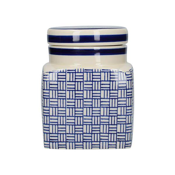 London Pottery Ceramic Canister Lattice