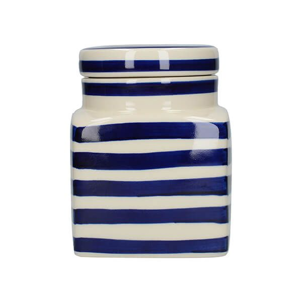 London Pottery Ceramic Canister Blue Bands