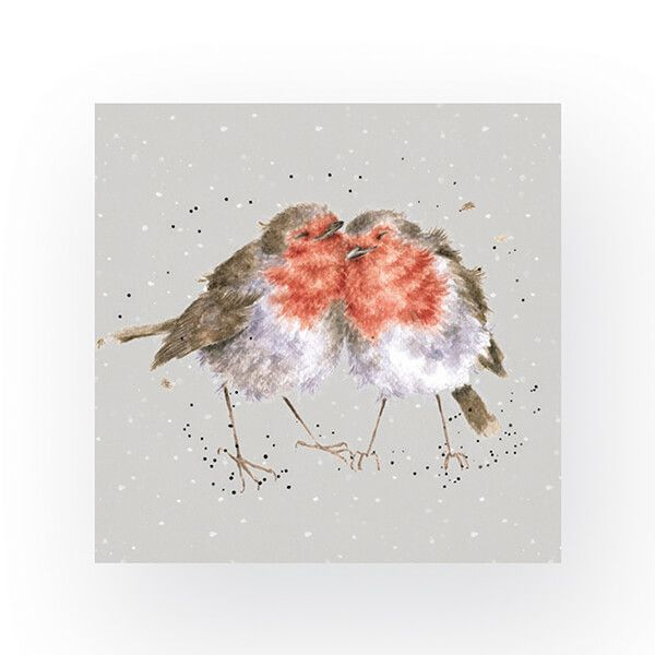 Wrendale Designs Pack of 20 Cocktail Size 'Snuggled Together' Robins Napkins