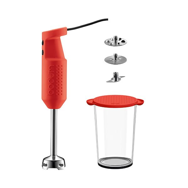 Bodum Bistro Stick Blender Set Red