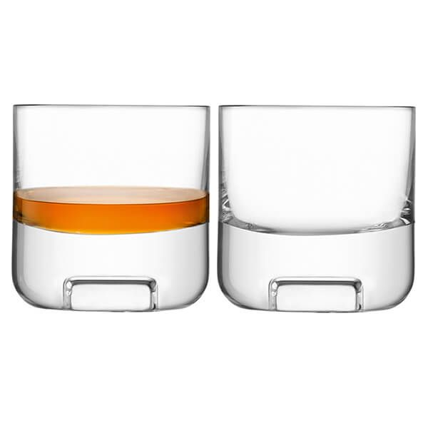 LSA Cask Whisky Tumbler 240ml Clear Set Of Two