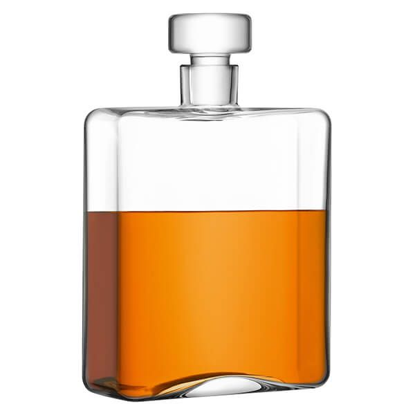 LSA Cask Whisky Oblong Decanter 1L Clear
