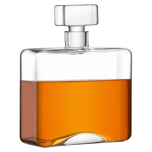 LSA Cask Whisky Rectangle Decanter 1L Clear