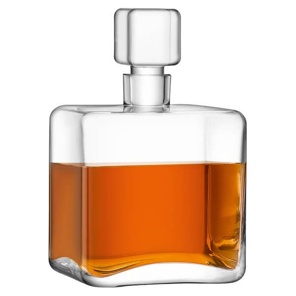 LSA Cask Whisky Square Decanter 1L Clear