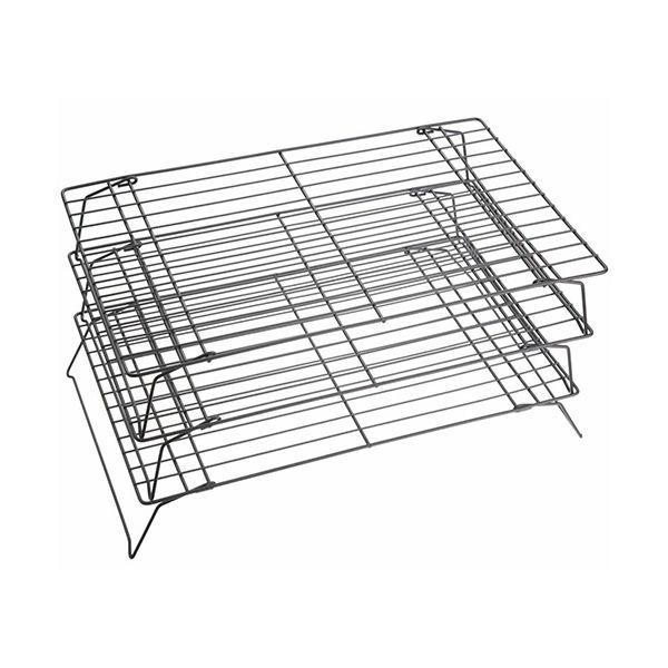 KitchenCraft Non-Stick Cooling Rack 3 Tier 40 x 25 x 22cm