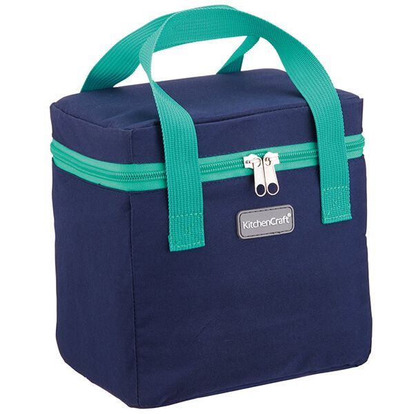 KitchenCraft 5 Litre Lunch Navy and Green Cool Bag