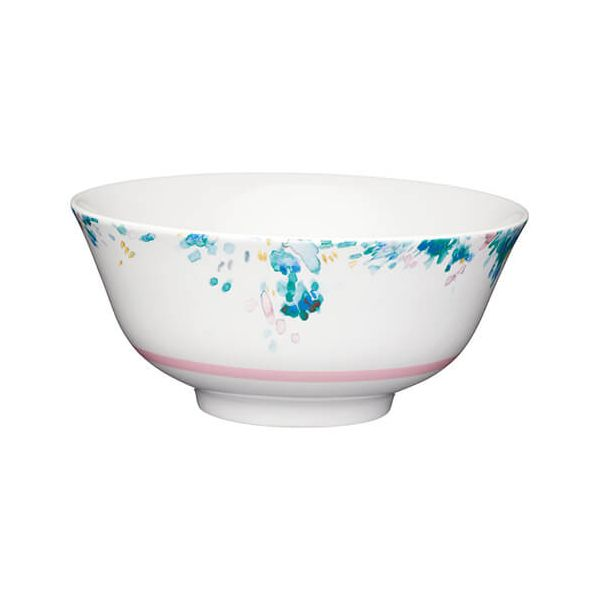 KitchenCraft Glazed Stoneware Bowl Floral Watercolour