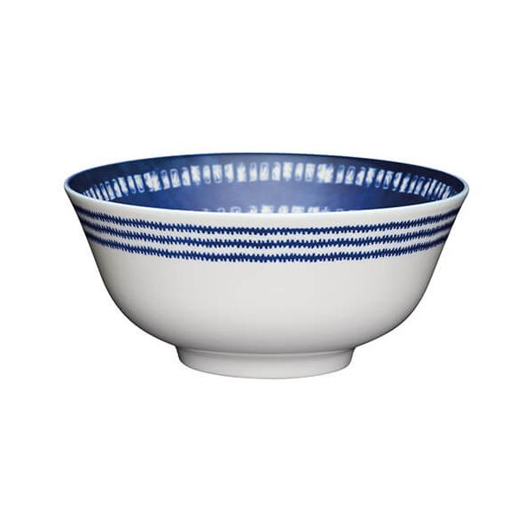 KitchenCraft Glazed Stoneware Bowl Blue Tile