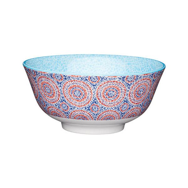 KitchenCraft Glazed Stoneware Bowl Mosaic