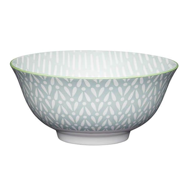 KitchenCraft Light Grey Pattern 15.7cm Ceramic Bowl