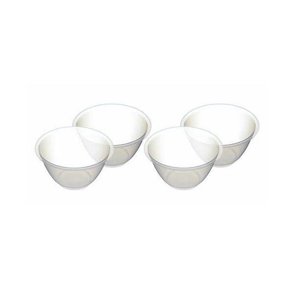 KitchenCraft Mixing Bowls 4 Piece 800ml 17cm Plastic