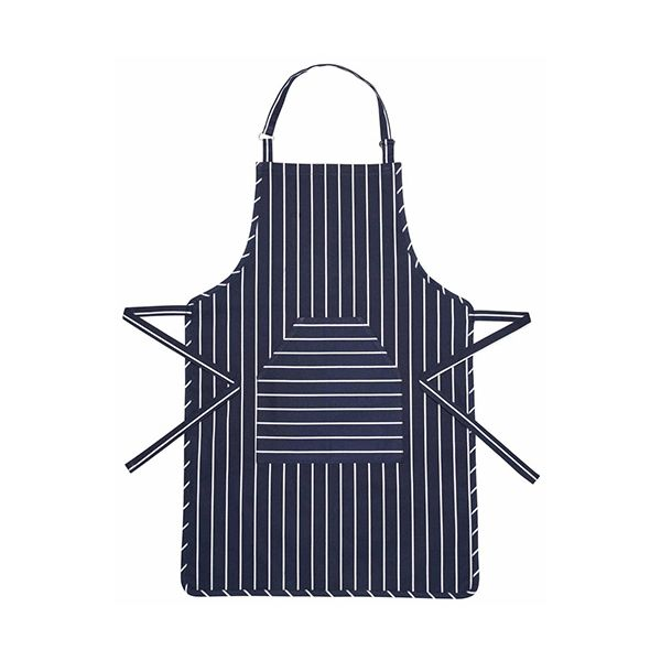 KitchenCraft Blue Butcher's Striped Apron 90 x 60cm