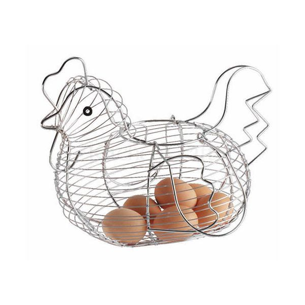 KitchenCraft Chrome Plated Wire Large Chicken Basket, 30 x 25cm